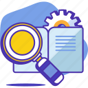 business, case, knowledge, portfolio, report, research, study icon