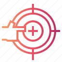 archery, business, finger, objective, target icon