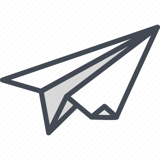 business, filled, outline, paper, plane, startup icon