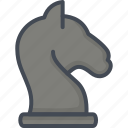 business, chess, filled, knight, outline, startup