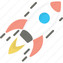 business, launch, rocket, spaceship, startup icon