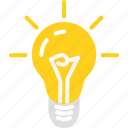 bulb, business, idea, light icon