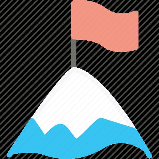 business, flag, mountain, peak, startup icon
