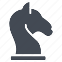 business, chess, figure, knight, solid icon