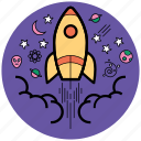 boostop, buisiness, campaign, idea startup, launch, rocket, startup icon