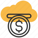 cloud, funding, data, database, server, storage