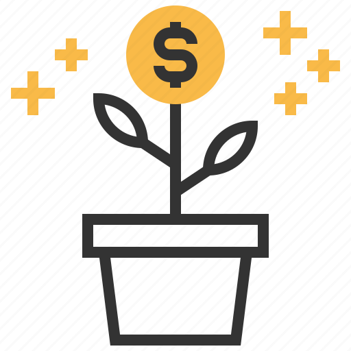 business, cash, currency, finance, goal, growth, money icon