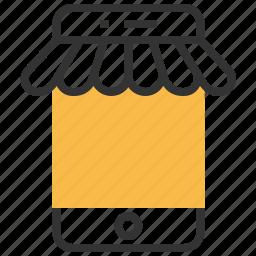 business, ecommerce, market, online, shopping, smartphone icon