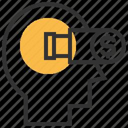 explore, magnifier, optimization, search, vision icon