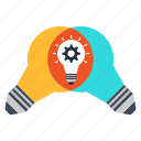 bulb, idea, imagination, innovation, invention, progress, research icon