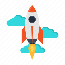 beginning, business, launch, project, rocket, start, startup icon