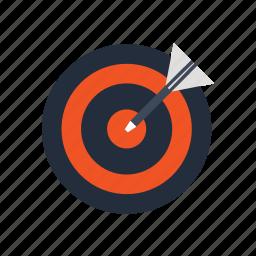 aim, center, goal, market, startup, target, trend icon