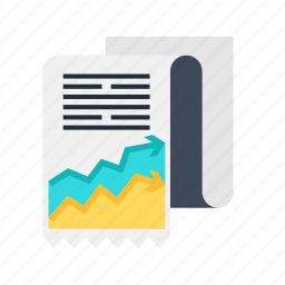 accounting, analysis, data, document, file, graph, report icon