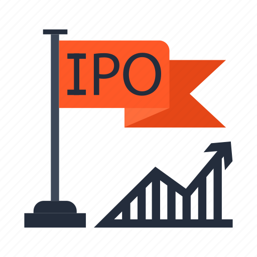 business, chart, flag, ipo, new, startup, success icon