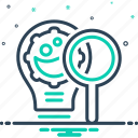 analytics, innovation, innovation research, magnifier, modernization, optimization, research icon