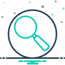 discovery, find, glass, magnifying, magnifying glass, optical, search icon