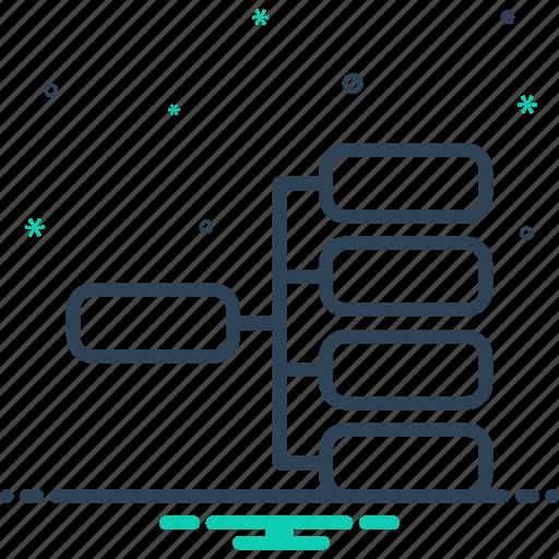 digram, flowchart, product, product website, sheet, website icon