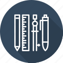 business, essential, modern, tools icon