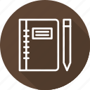 business, modern, sketch, workbook icon