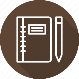 business, modern, sketch, workbook icon