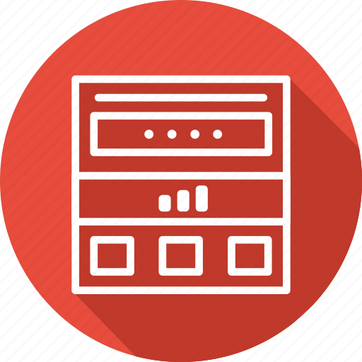 business, modern, page, website icon