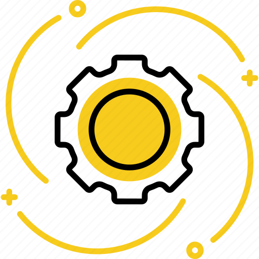 business, gear, industry, settings, startup icon