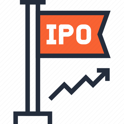initial, investment, ipo, market, offer, public, stock icon