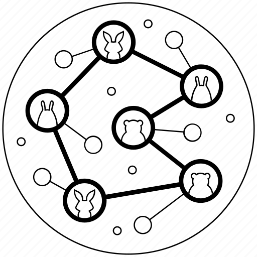 blackwhite, connection, internet, network, share, social, software icon