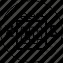 blackwhite, calendar, date, schedule, startup, time, week icon icon