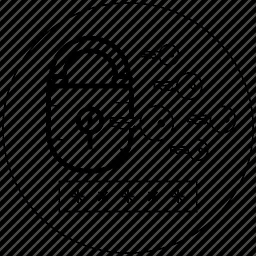 blackwhite, key, login, look, protect, security, startup icon icon
