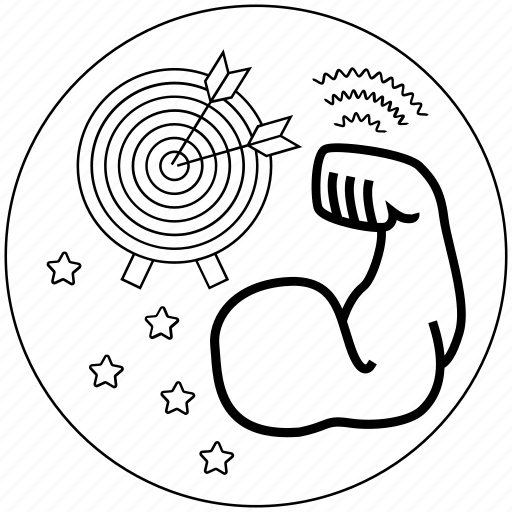 blackwhite, business, focus, goal, idea, mission, target icon