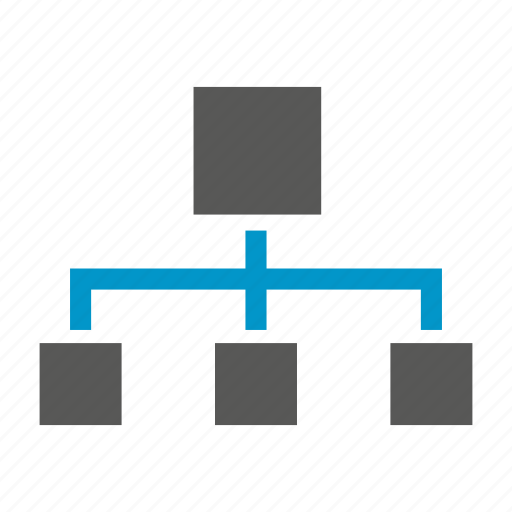 chart, diagram, hierarchy, organization chart icon