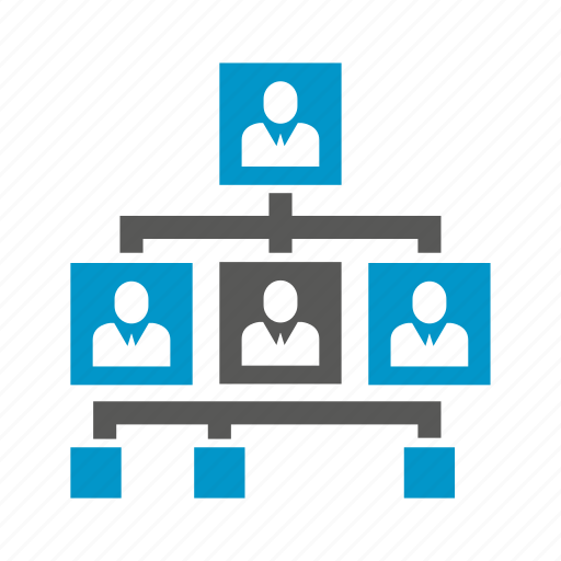 business, cooperate, employee, hierarchy, office, organization, organization chart icon