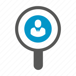 human resource, magnifier, recruiting, recruitment, search icon
