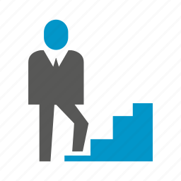 business people, cooperate, people, stair, walk icon