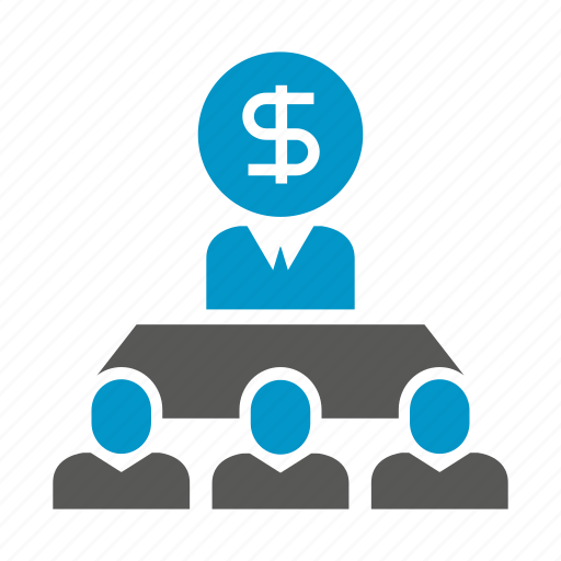 cooperate, meeting, money, people icon