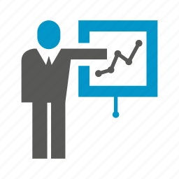business people, chart, management, office, plot, presentation, slide icon