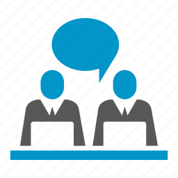 business people, laptop, office, sitting, worker, working icon
