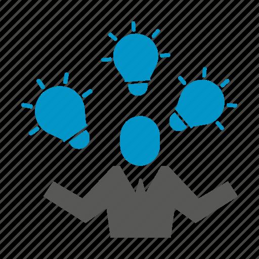 idea, innovation, light bulb, people, smart icon