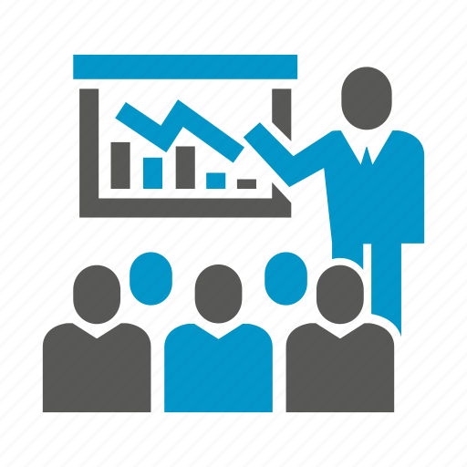 business people, chart, cooperate, graph, management, office, presentation icon