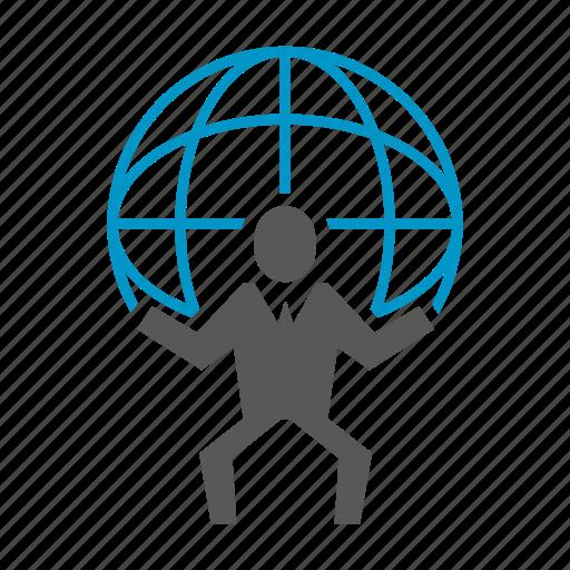 globe, hold, people, world icon