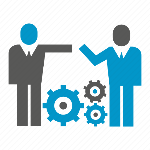 business people, cog, gear, management icon