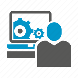 computer, monitoring, office icon