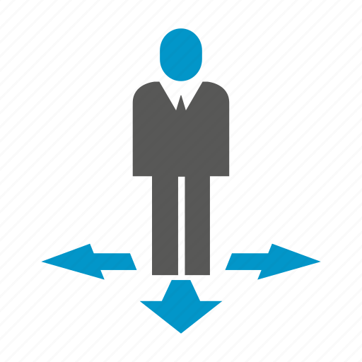 arrow, business people, decision making, direction, management icon