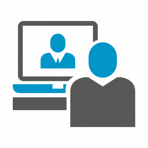 business people, monitoring, office, people, working icon