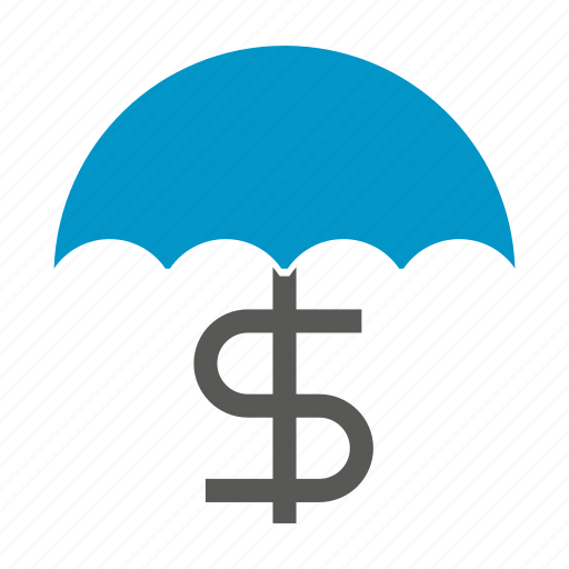 currency, dollar, money, parachute, risk, safe, security icon