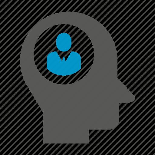 head, idea, mind, people, think icon