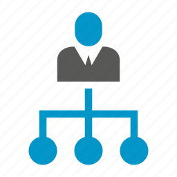 business, management, office, organization chart, people icon