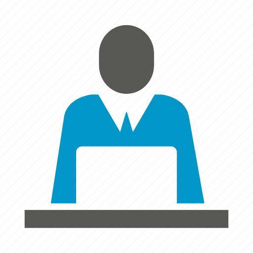 computer, laptop, office, people, working icon