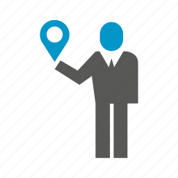 location, map, people, pin, position icon